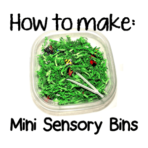 how to make mini sensory bins