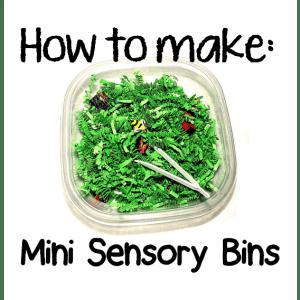 how to make mini sensory bins