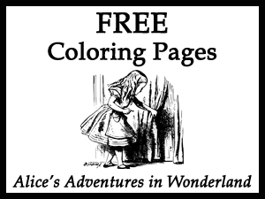 Free Alice's Adventures in Wonderland Coloring Pages