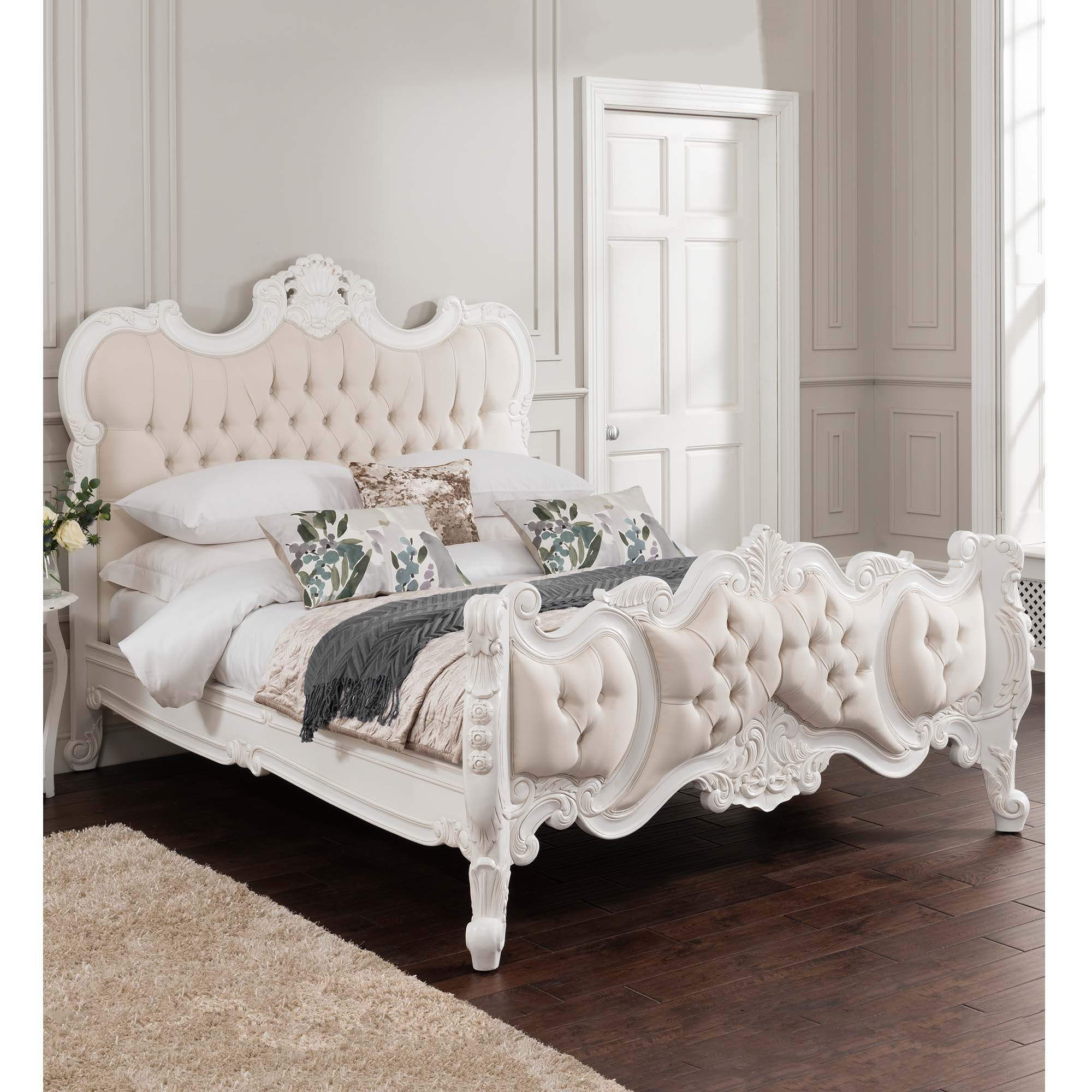 Antique French Style Bed  Shabby Chic Bedroom Furniture