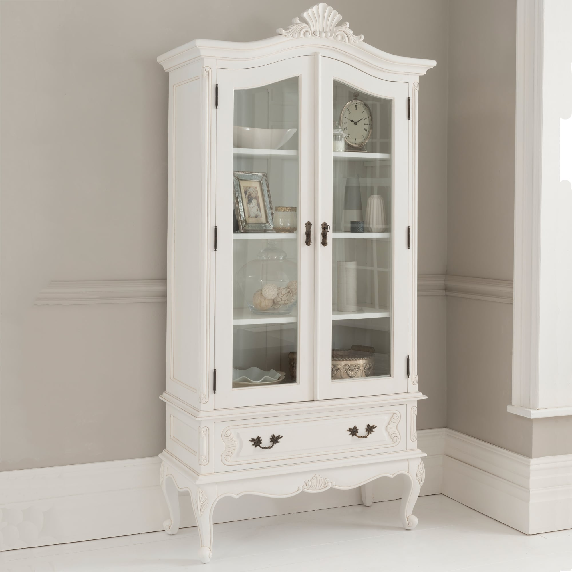 Antique French Display Cabinet  Shabby Chic Dining
