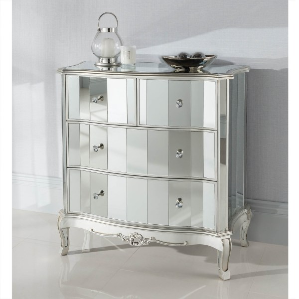 Argente Mirrored Chest Of Drawers Venetian Furniture