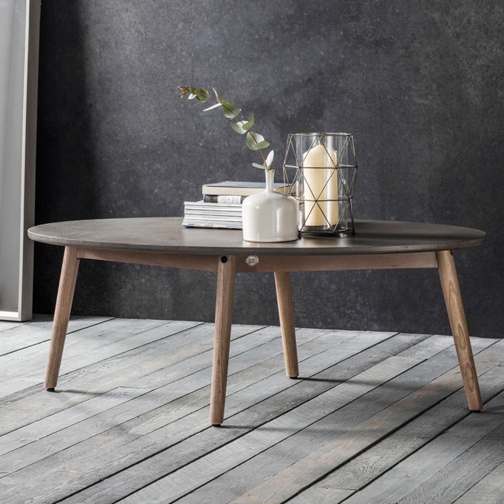 bergen oval coffee table