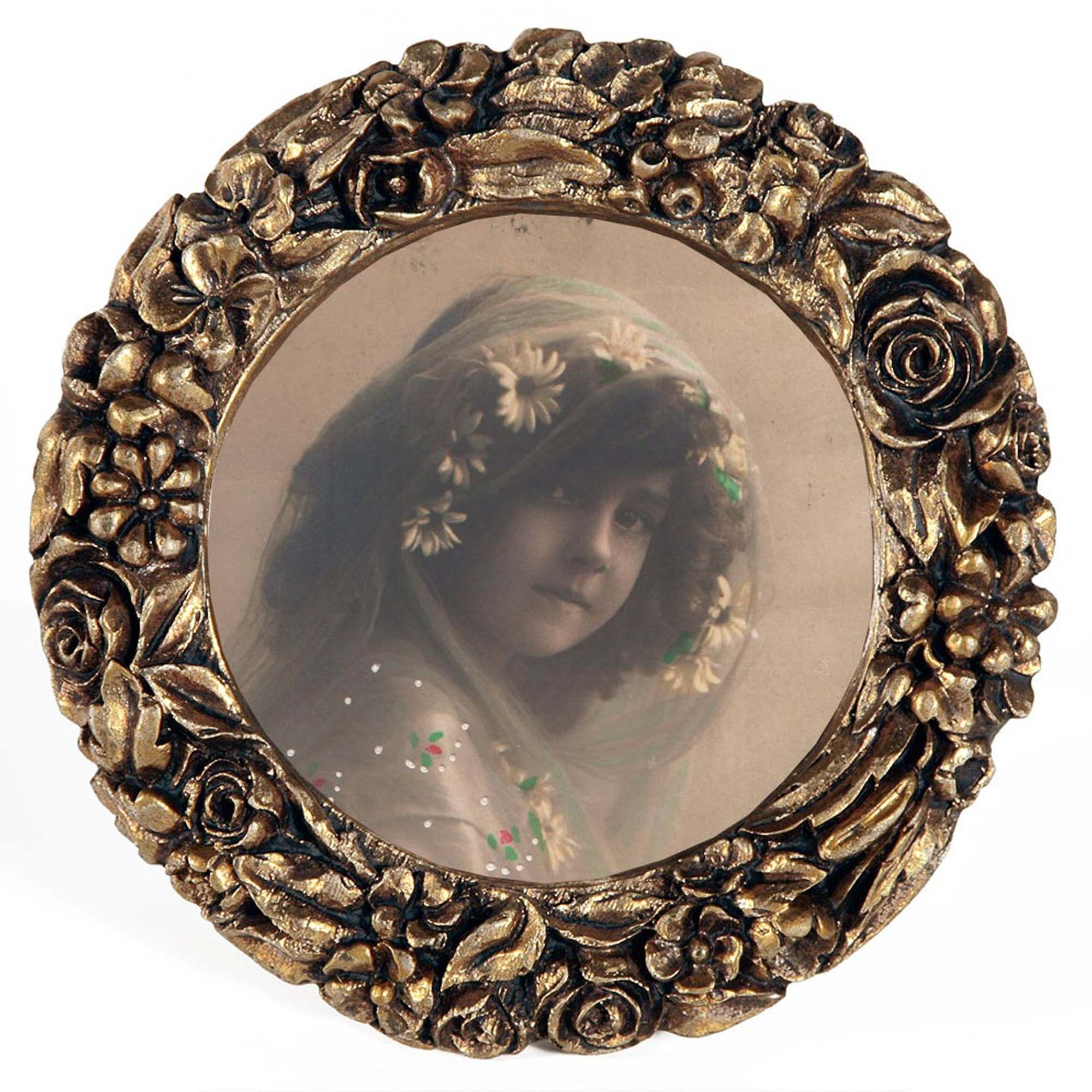 gold leaf round photo