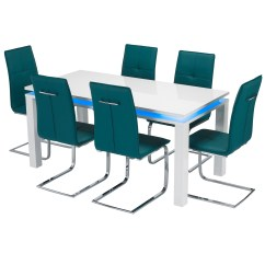 Led Table And Chairs Stressless Chair Sizes Milano Dining Set Modern Contemporary