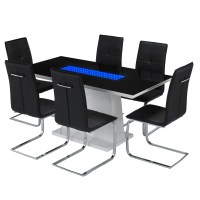 Matrix LED Dining Table Set