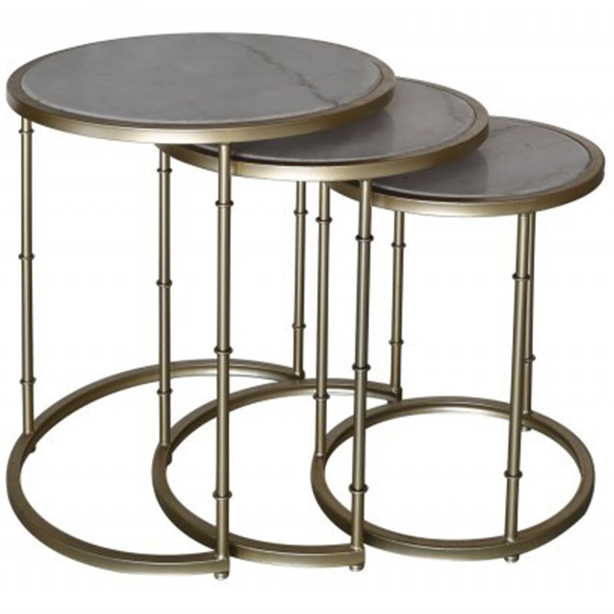 Metal Marble Nest Of Tables Contemporary Modern Furniture From Homesdirect 365 Uk