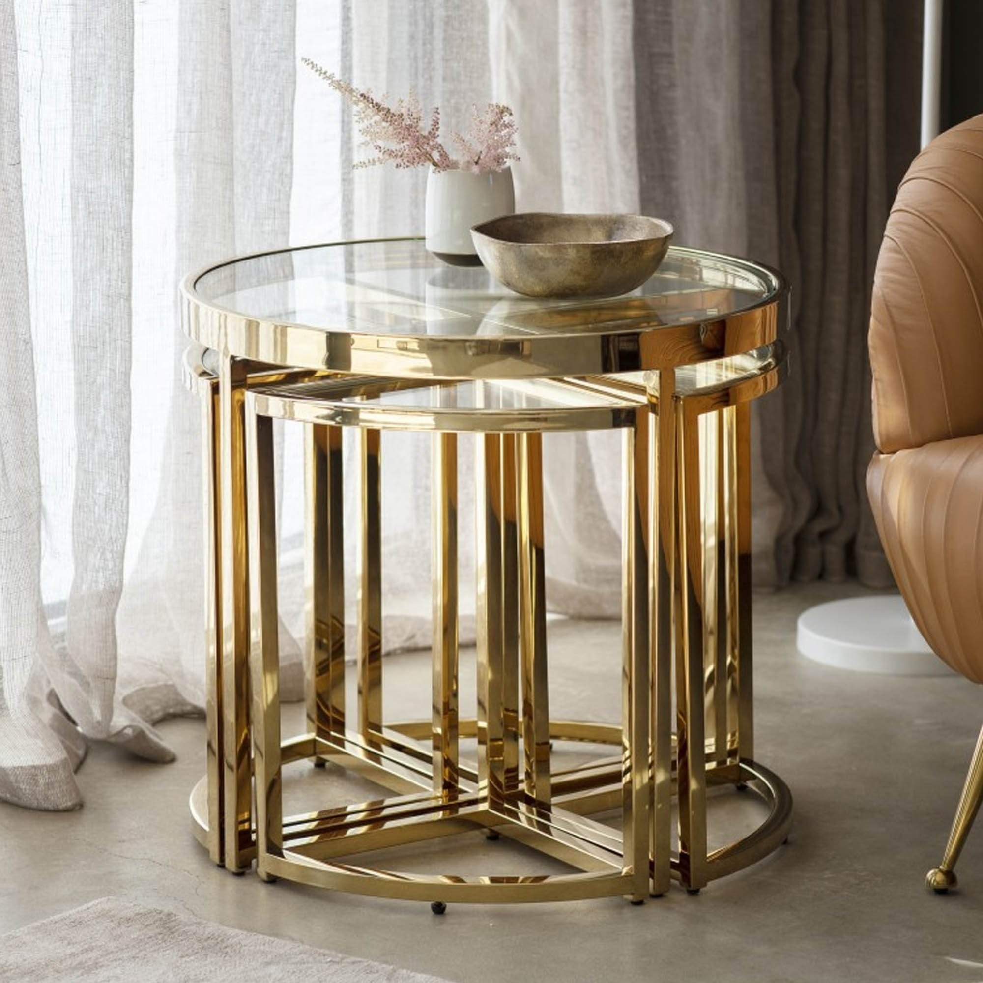 moresco side table gold