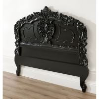 Black Rococo Antique French Headboard is a stunning piece