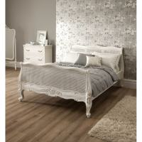 Rattan Sleigh Antique French Bed | Shabby Chic Furniture