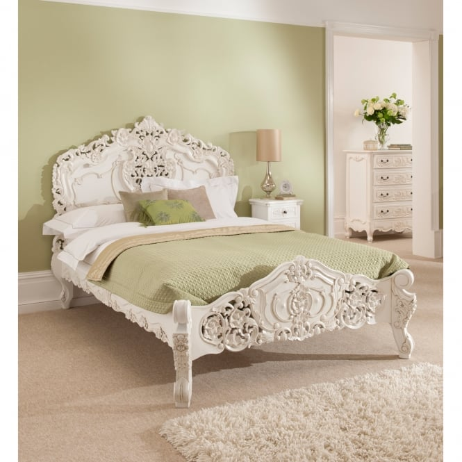 Antique French Style Rococo Bed  Online Homesdirect365