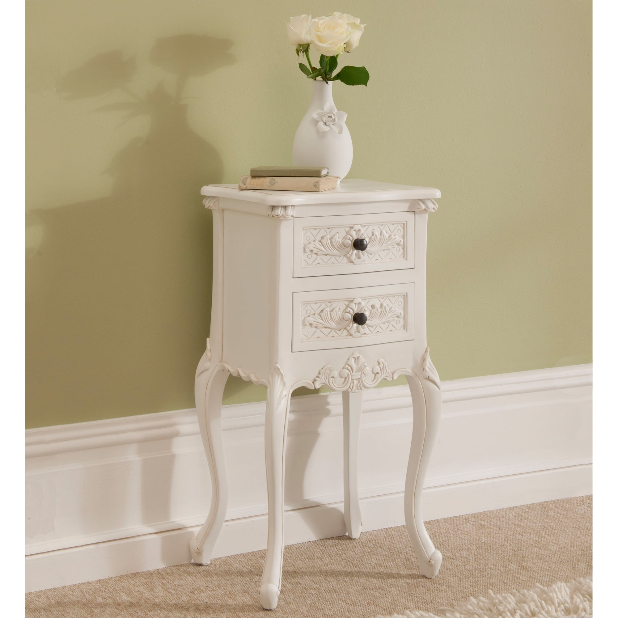 Rococo Shabby Chic Antique Style Bedside Table Shabby Chic Furniture