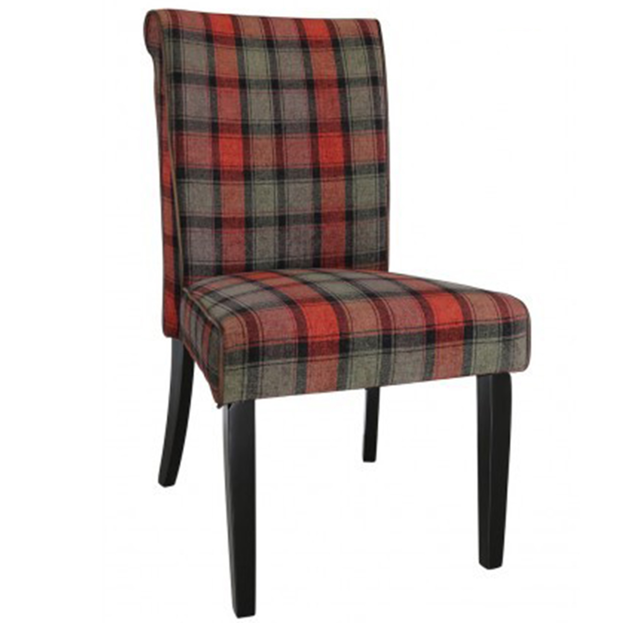 tartan dining chair covers for sale office stretches taupe and red highlander