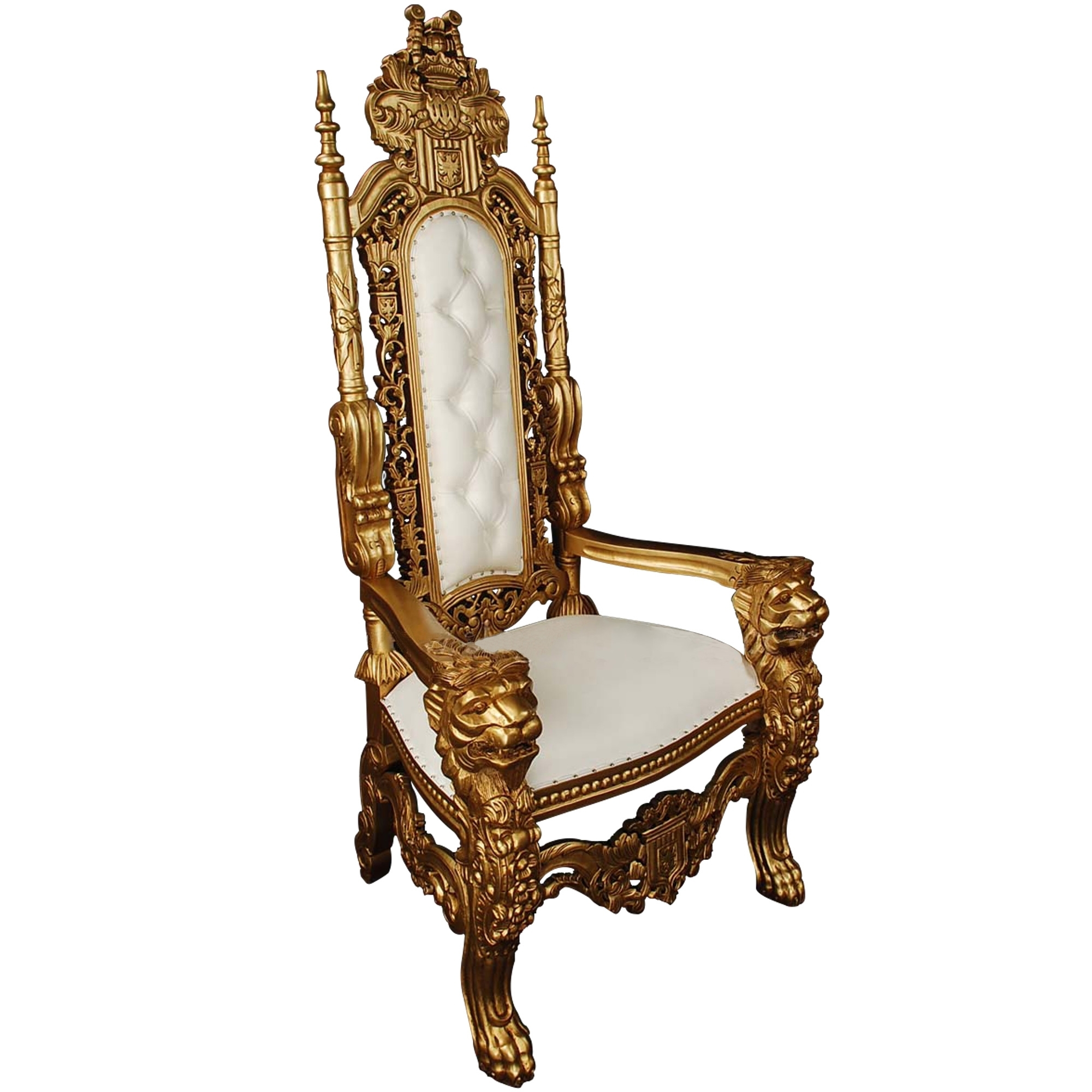 throne chair cover best stadium gold chairs white wooden