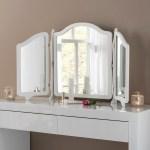 White Triple Vanity Mirror Table Mirror