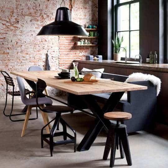 industrieel interieur | robuust-strak-functioneel-ruig |metaal, beton, onbewerkt hout |woonstijl| www.homeseeds.nl