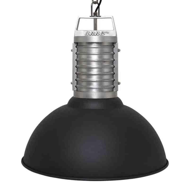 Stoere industriele hanglamp van Anne Lighting   Anne Oncle Phillipe Zwart   www.homeseeds.nl