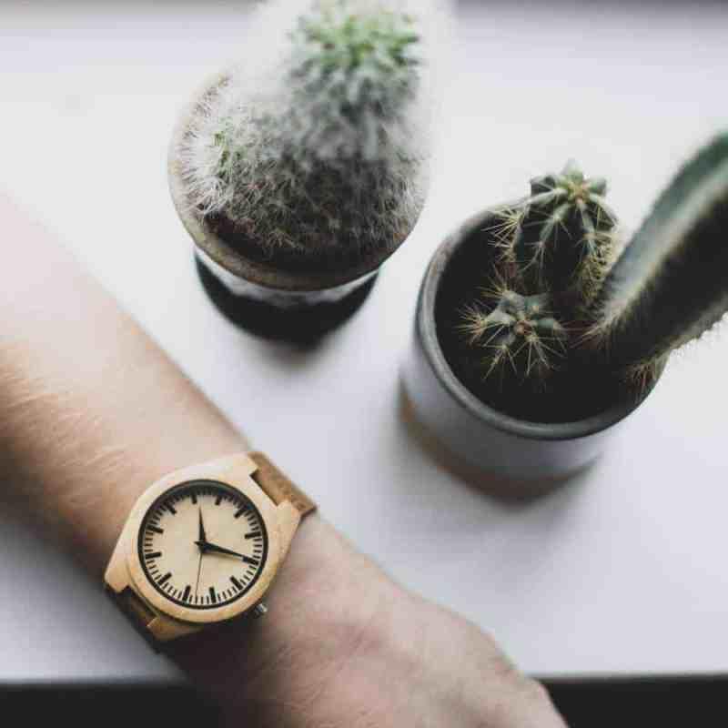 houten horloge bamboe Pure - heren horloge bamboe | homeseeds.nl