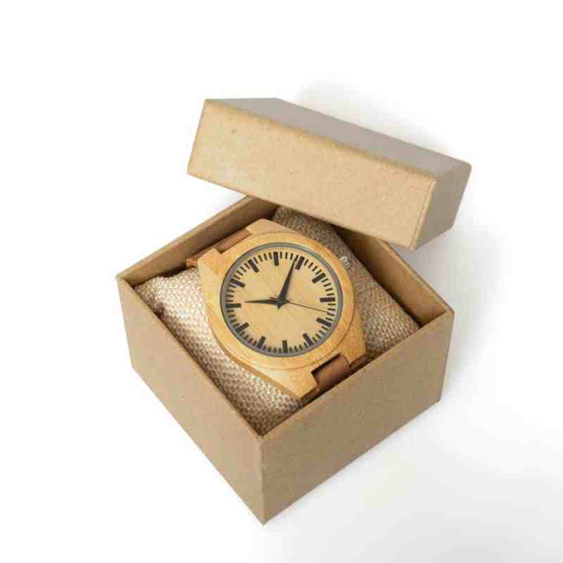 Houten horloge pure bamboe   eco virendelijk horloge voor heren   homeseeds.nl