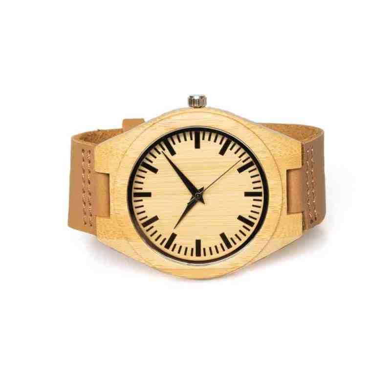 Houten horloge Pure   Bamboe horloge Pure   Eco horloge van bamboe   homeseeds.nl