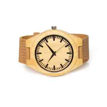 Houten horloge Pure | Bamboe horloge Pure | Eco horloge van bamboe | homeseeds.nl