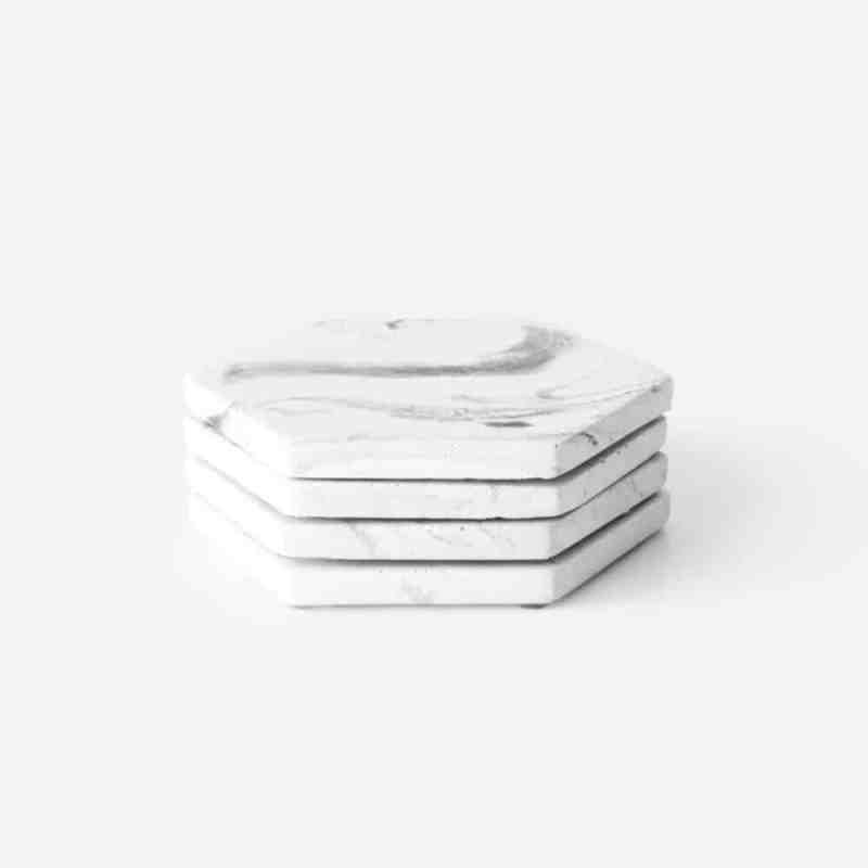 Marble onderzetters beton coasters marmer | Dalbane van House Raccoon