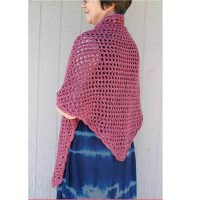 Crochet Triangle Shawl-www.homesew.com