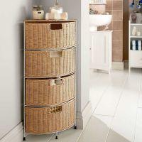 Wicker Bathroom Furniture Drawer Corner Storage - Homes ...