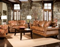 Rustic Dim Brown Leather Sofas: Fantastic Expense for Warm ...