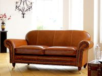 Tough Snazzy Distressed Leather-based Couch Coming with ...