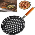 Outdoor Camping Foldable Round Frying Pan Picnic BBQ Heat Resistant Steak Grilled Skillet