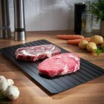 Fast Defrosting Tray Thaw  Kitchen Quick Aluminum Thaw Plate