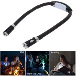 Flexible Neck Hug Book Light With LED Reading Lamp 3 Mode Portable Flashlight Soft Silicone Outdoor Camping Light Night Light