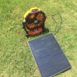 15W solar panel home portable rechargeable energy solar powered fan DC 6W/6V Camping use