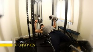 Flat dumbbell chest press