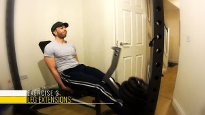 Leg extensions at home