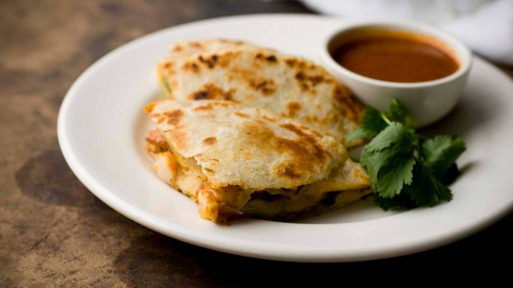 Ancho chile shrimp quesadillas | Homesick Texan