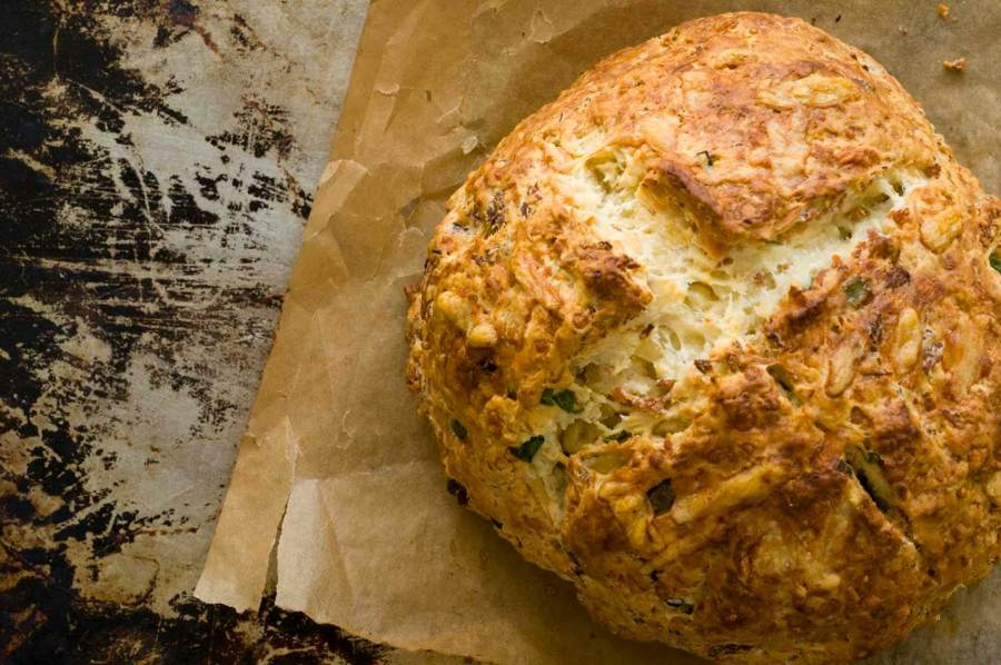 Irish cheddar and bacon soda bread
