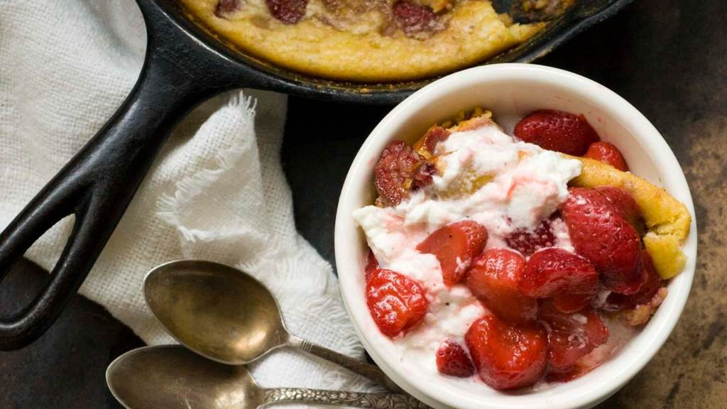 Strawberry spoon bread | Homesick Texan