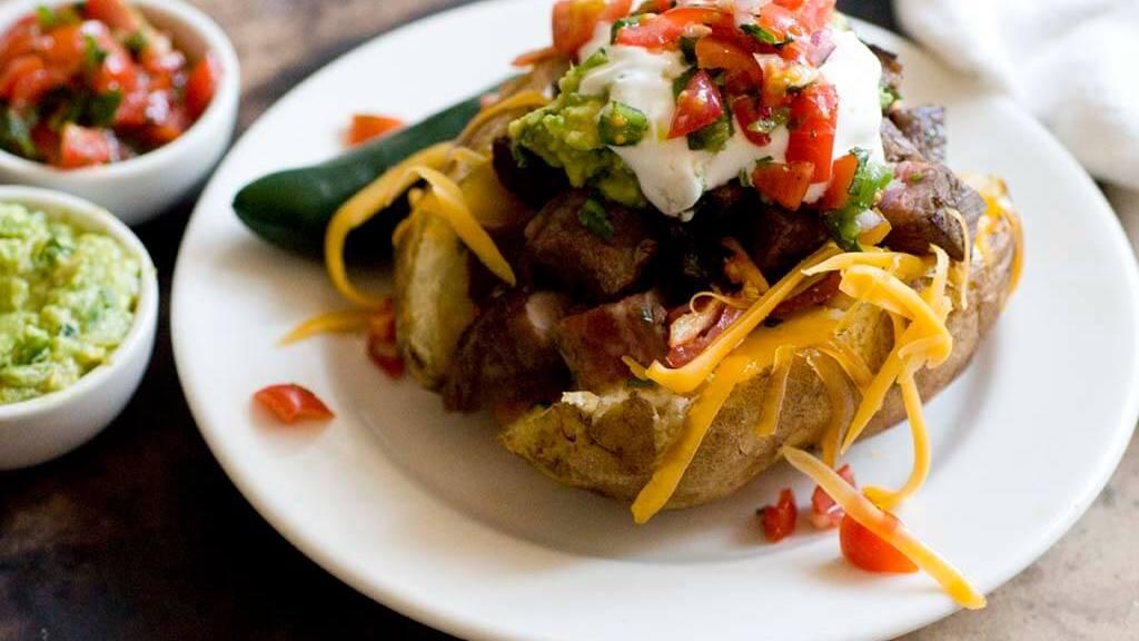 Carne asada baked potato | Homesick Texan