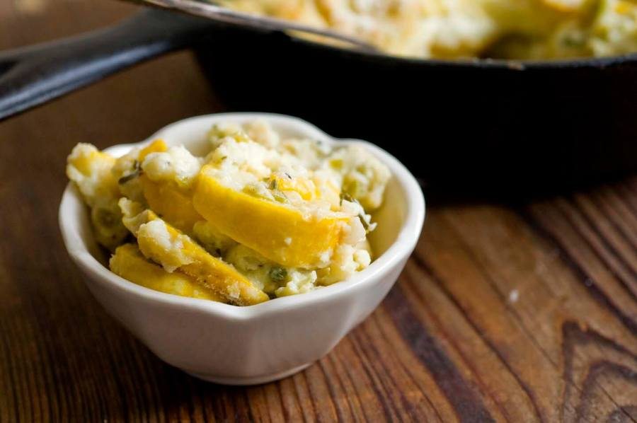 Squash and green chile casserole | Homesick Texan