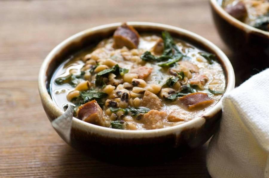 Smoky black-eyed pea and sausage soup   Homesick Texan
