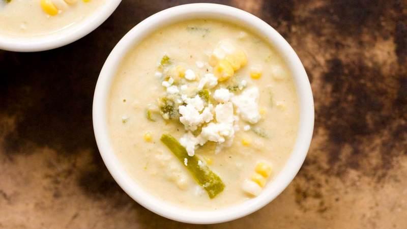 Corn and green chile soup | Homesick Texan