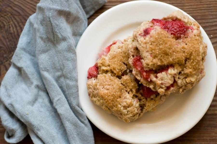 Strawberry oatmeal scones | Homesick Texan