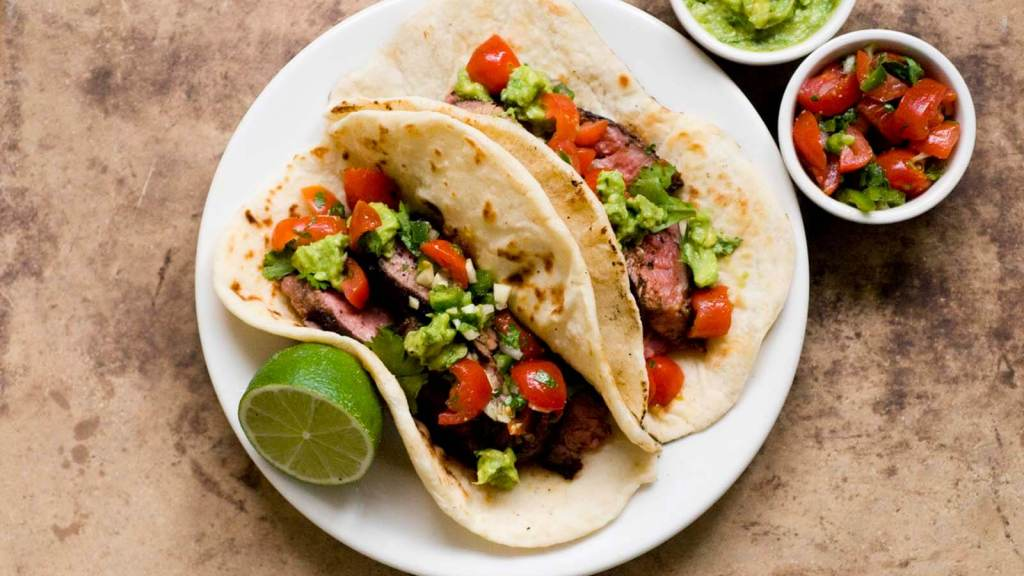 Ancho chile and cocoa-rubbed flank steak tacos | Homesick Texan