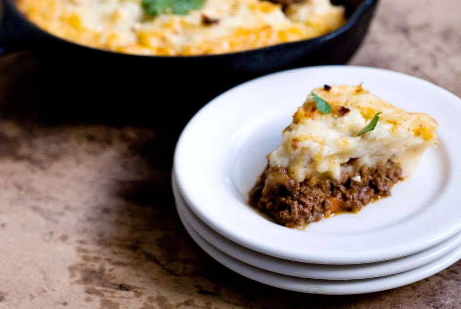 Shepherd's pie with chipotle cheddar mashed potatoes | Homesick Texan