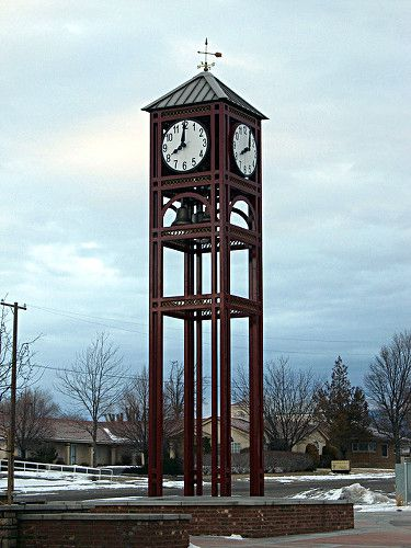 The Gunnison Utah clock tower.