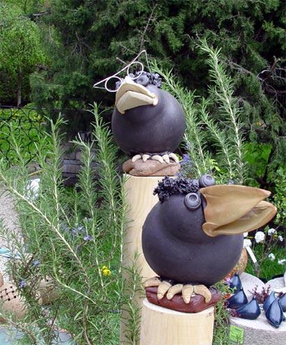 Gartendeko Ideen Aus Stein Keramik Holz Und Metall