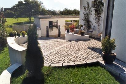terasse  weg  Terrasse  Gartenmbel  Pflaster  Garten