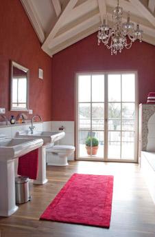 Lehmputz im Bad in tollen Farben fr jedes Ambiente